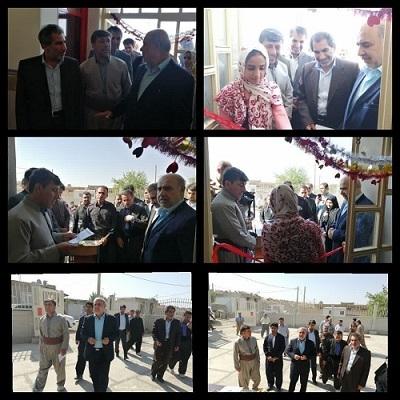 به مناسبت هفته ی دولت ، مدرسه ی روستای میدان نمک ثلاث باباجانی افتتاح شد